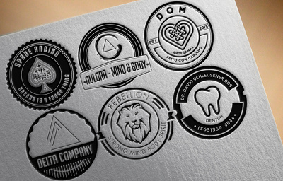 Design a retro stamp logo