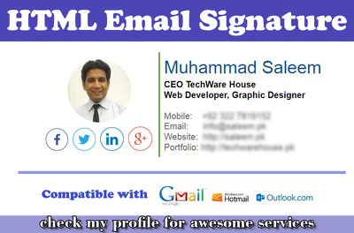 Create outstanding HTML email signature