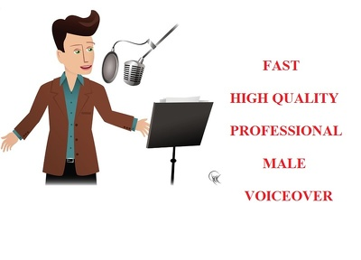 Record a young adult male 100 words voice over