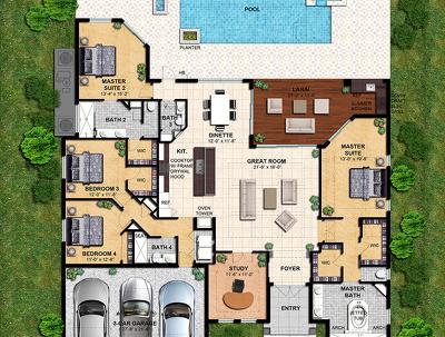Create BEAUTIFUL colored 2D floor plans