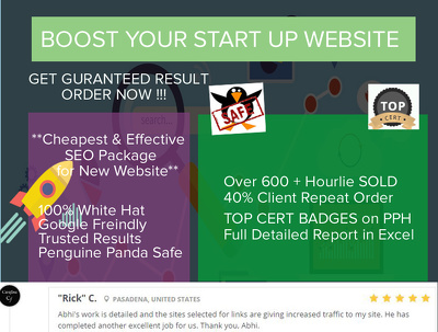 White Hat SEO Package - For Website Startup and LinkBuilding *Latest Google Update*