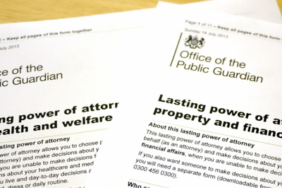 Create Lasting (ex Durable) Power of Attorney for £100 (single)