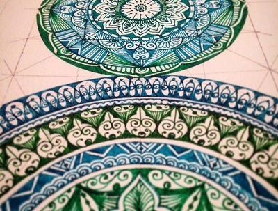 Design Mandala designs or repeat patterns inspired from Asian/ Indian Cultures.