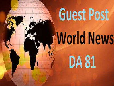 Publish Guest Post at World News