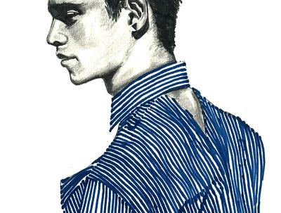 Do 1 fashion illustration with multi-media (pencil, marker, acrylic, watercolour...)