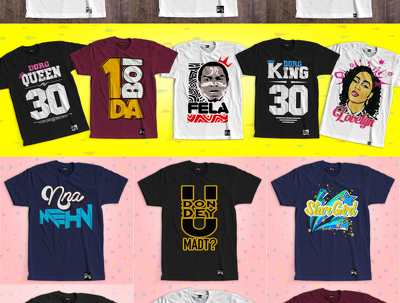 Design tshirts - typographic, text-based, vector potrait and cartoonise your picture