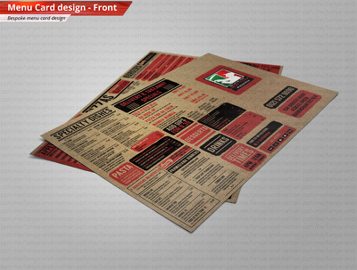 Design menu card front and back for your fast food business