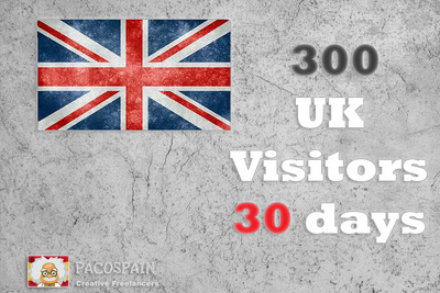 Send 300+ UK Targeted Visitors a day with low bounce rate