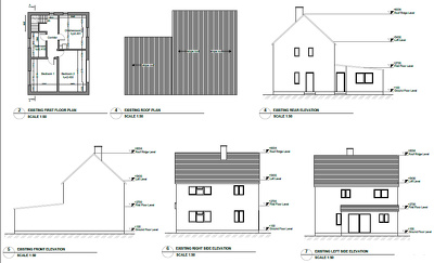Prepare documents for planning permission or building regulation drawings