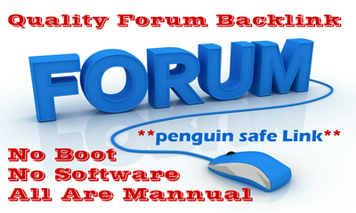Do 25 high quality forum posts on any forum