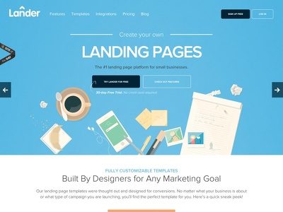 Design and develop the landing page