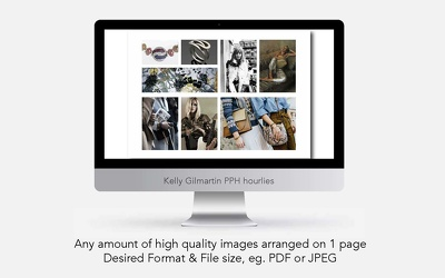 Arrange any amount of high quality images on 1 page