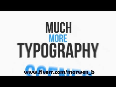 I will design hd kinetic typography for you