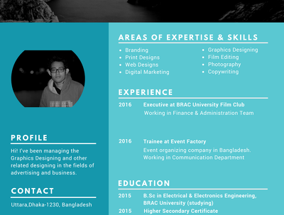 Design simple but unique Resume for you