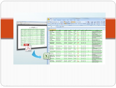 Convert 10 PDF pages to Excel Spreadsheets professionally