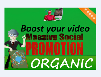 Do MASSIVE Youtube Video Organic Social and Embeds Promotion to get you organic views