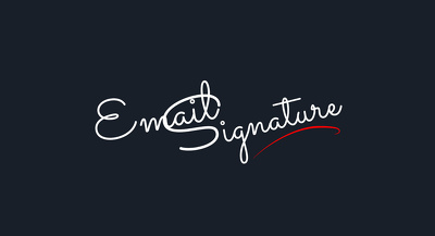Design your html coded email signature with social media links