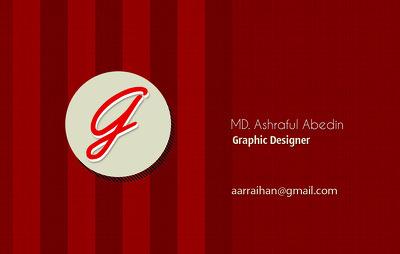 Design a bussiness card for you only for