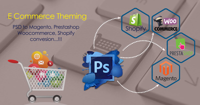 Convert PSD to CMS, eCommerce - WordPress, Magento, Shopify