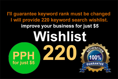 Do 450 keyword based wish list for amazon product ranking