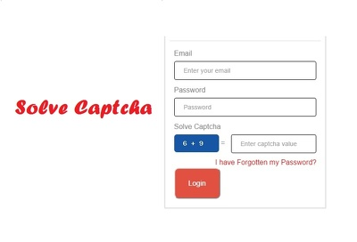 Put a captcha code in form to prevent spam leads using php