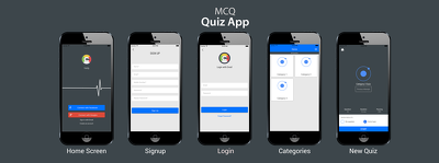 Provide quiz-app UI (iOS + Android) for multiple choice question quizzes