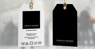 Design a simple care label for your clothing business
