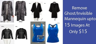 Do Remove Ghost/Invisible mannequin, Joint Back part/ Neck Join Up to 12-15 Images