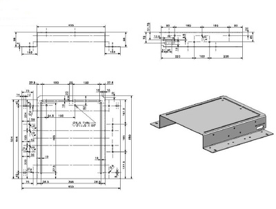 Design a 3D model of a SIMPLE mechanical part including a detailed technical drawing