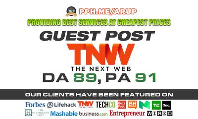 Write and Publish a guest post on TheNextWeb   TheNextWeb.com   DA89 PA91