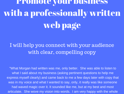 Write a web page for your business