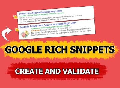 Create and Validate Google Rich Snippets