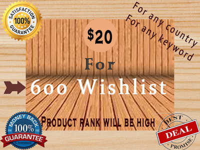 Do 600 wishlist for ranking your product at amazon SEO