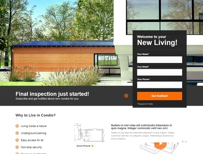 Give you Real Estate premium Landing Page
