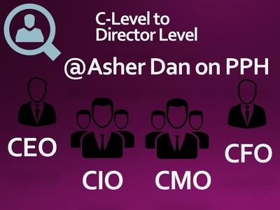 Provide database of decision maker (e.g. Owner, CEO, CFO, Pres, VP, Director)