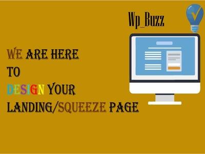 Design Responsive Landing/Squeeze Page