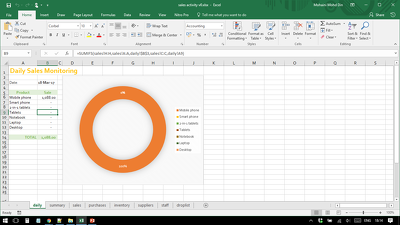 Produce report in MS Excel including charts from your raw data