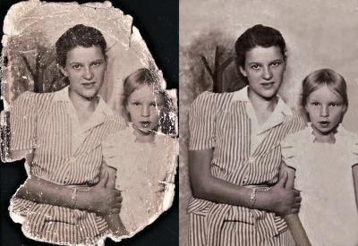 Restore one old and damaged photo.