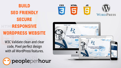 Build a bespoke SEO friendly and secure responsive WordPress website
