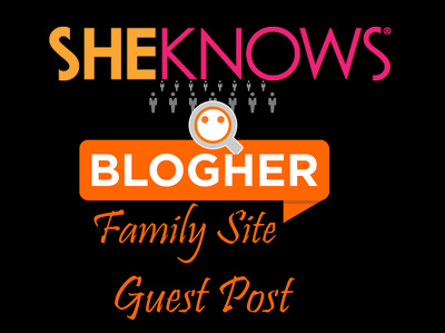 Publish a guest post on Blogher.com family site Sheknows