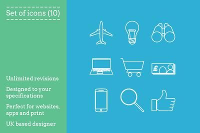 design upto 15 unique icons