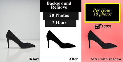 Remove background or edit 15 photos in 1 hour