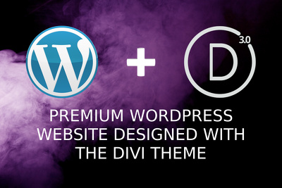 WordPress website with the DIVI 3.0 Theme - 5 pages