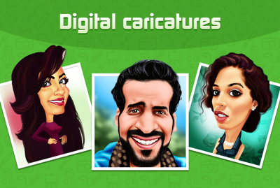 Draw a custom Digital Caricature, Cartoon from photo