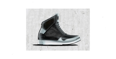 Provide you a footwear design rendering as below including hand sketching