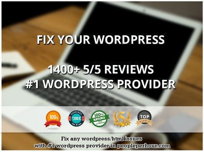 Wordpress fix /bugs or html fix- From all time No.1 Freelancer