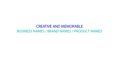Provide 5 business/brand names(COMPLETE 5 in 1 PACKAGE)