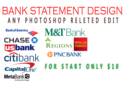 Do superb bank statement design within 24hrs