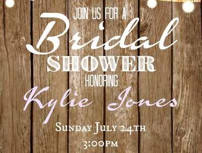 Design a one-sided, font-only invitation