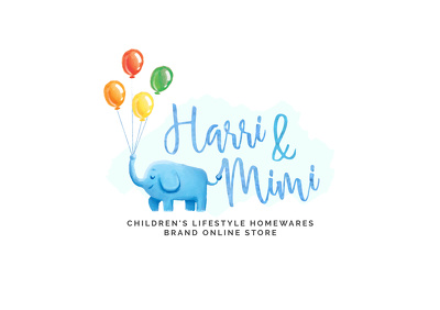 Design creative feminine watercolor logo